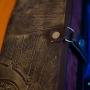 Кожаная фотокнига с обложкой из натуральной кожи с тиснением и боксом