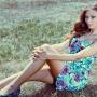 сидя на траве