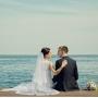 на причале, Межигорье, свадебная фотография